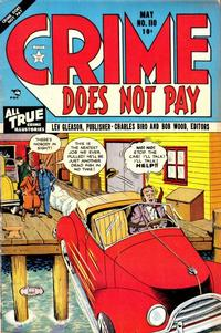 Cover for Crime Does Not Pay (Lev Gleason, 1942 series) #110