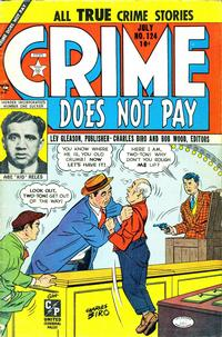 Cover Thumbnail for Crime Does Not Pay (Lev Gleason, 1942 series) #124