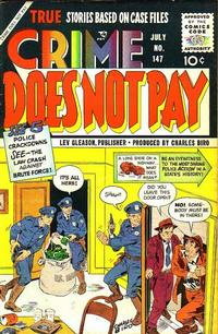 Cover for Crime Does Not Pay (Lev Gleason, 1942 series) #147