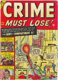 Cover Thumbnail for Crime Must Lose (Marvel, 1950 series) #6