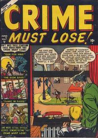 Cover Thumbnail for Crime Must Lose (Marvel, 1950 series) #7