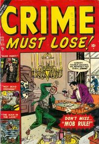 Cover Thumbnail for Crime Must Lose (Marvel, 1950 series) #11