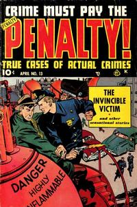 Cover Thumbnail for Crime Must Pay the Penalty (Ace Magazines, 1948 series) #13