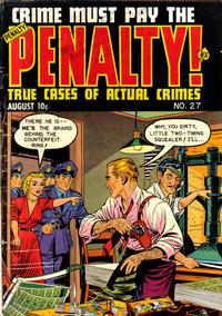 Cover Thumbnail for Crime Must Pay the Penalty (Ace Magazines, 1948 series) #27