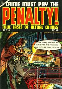 Cover Thumbnail for Crime Must Pay the Penalty (Ace Magazines, 1948 series) #33