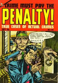 Cover Thumbnail for Crime Must Pay the Penalty (Ace Magazines, 1948 series) #34