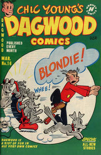 Cover Thumbnail for Chic Young's Dagwood Comics (Harvey, 1950 series) #16