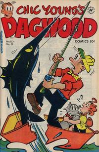 Cover Thumbnail for Chic Young's Dagwood Comics (Harvey, 1950 series) #28