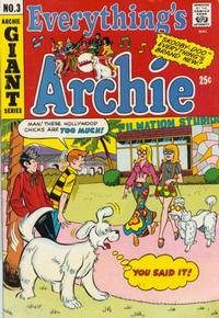 Cover for Everything's Archie (Archie, 1969 series) #3