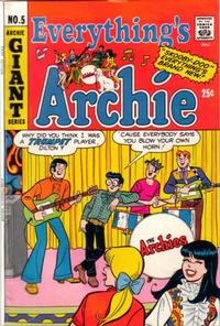 Cover Thumbnail for Everything's Archie (Archie, 1969 series) #5