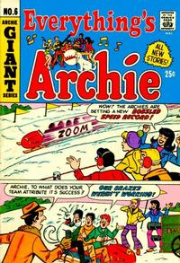 Cover for Everything's Archie (Archie, 1969 series) #6