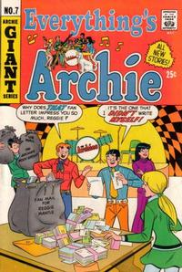 Cover Thumbnail for Everything's Archie (Archie, 1969 series) #7