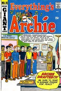 Cover Thumbnail for Everything's Archie (Archie, 1969 series) #16