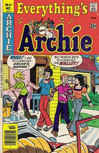 Cover Thumbnail for Everything's Archie (Archie, 1969 series) #61