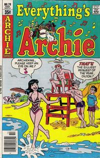 Cover Thumbnail for Everything's Archie (Archie, 1969 series) #70