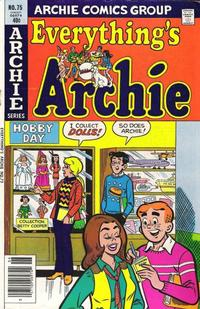 Cover Thumbnail for Everything's Archie (Archie, 1969 series) #75