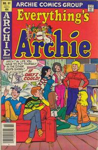 Cover Thumbnail for Everything's Archie (Archie, 1969 series) #81