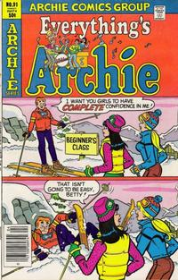 Cover Thumbnail for Everything's Archie (Archie, 1969 series) #91