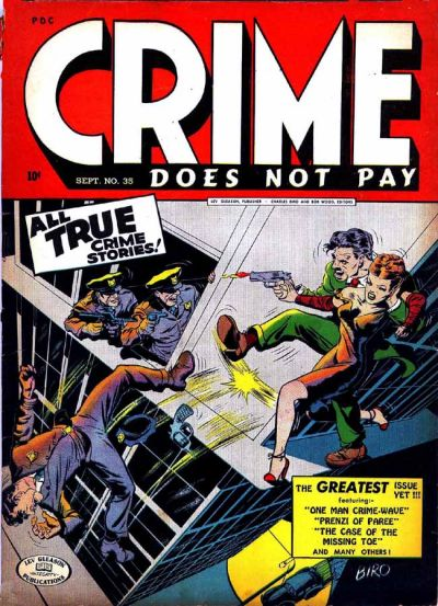 Cover for Crime Does Not Pay (Lev Gleason, 1942 series) #35