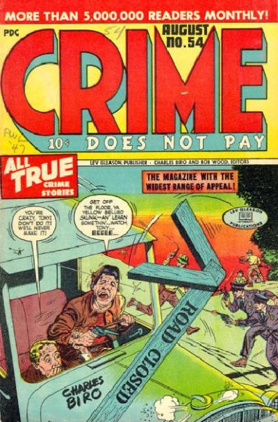 Cover for Crime Does Not Pay (Lev Gleason, 1942 series) #54