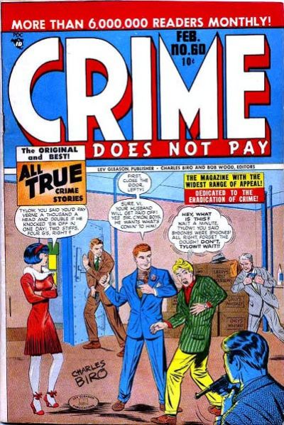Cover for Crime Does Not Pay (Lev Gleason, 1942 series) #60