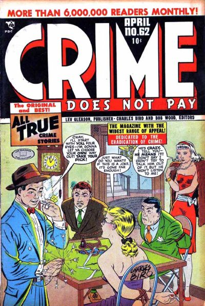 Cover for Crime Does Not Pay (Lev Gleason, 1942 series) #62