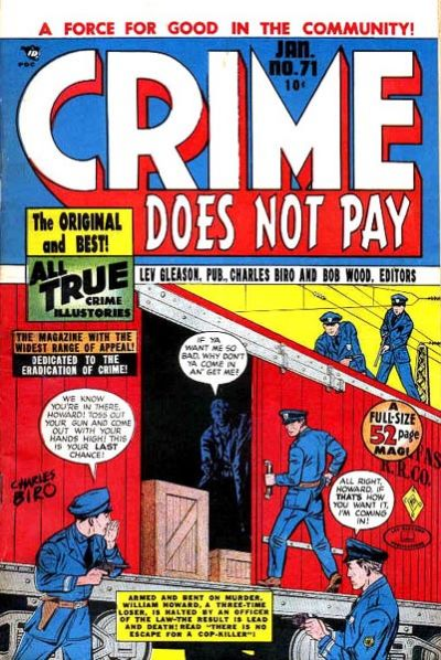 Cover for Crime Does Not Pay (Lev Gleason, 1942 series) #71