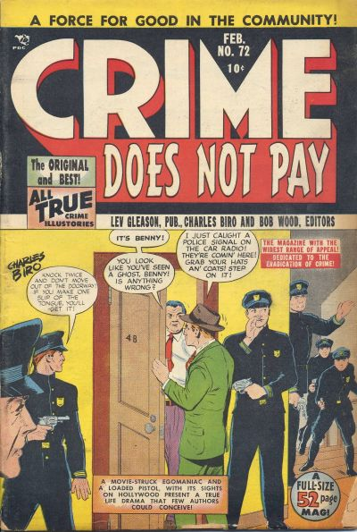 Cover for Crime Does Not Pay (Lev Gleason, 1942 series) #72