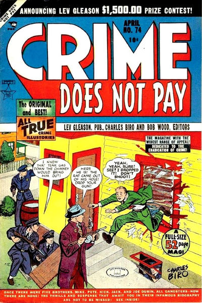 Cover for Crime Does Not Pay (Lev Gleason, 1942 series) #74