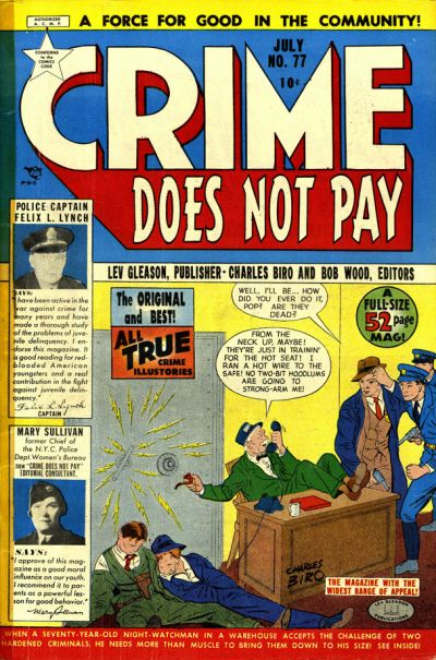 Cover for Crime Does Not Pay (Lev Gleason, 1942 series) #77