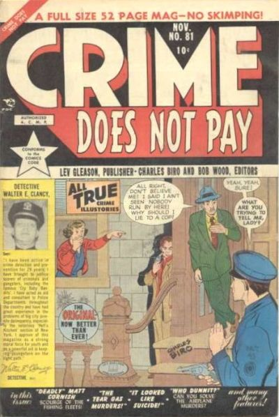 Cover for Crime Does Not Pay (Lev Gleason, 1942 series) #81