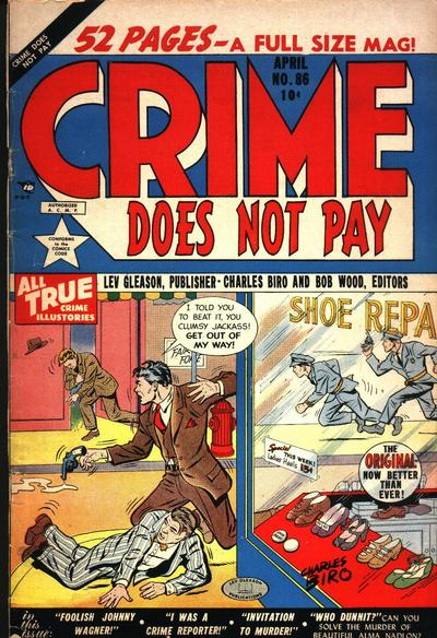 Cover for Crime Does Not Pay (Lev Gleason, 1942 series) #86