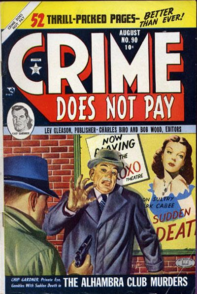 Cover for Crime Does Not Pay (Lev Gleason, 1942 series) #90