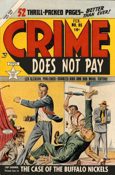 Cover for Crime Does Not Pay (Lev Gleason, 1942 series) #95