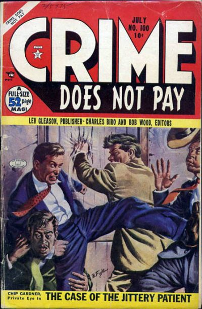 Cover for Crime Does Not Pay (Lev Gleason, 1942 series) #100