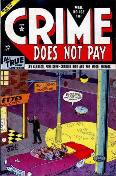 Cover for Crime Does Not Pay (Lev Gleason, 1942 series) #108