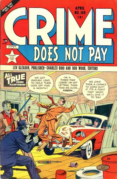 Cover for Crime Does Not Pay (Lev Gleason, 1942 series) #109