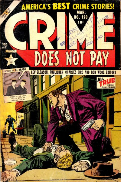 Cover for Crime Does Not Pay (Lev Gleason, 1942 series) #120