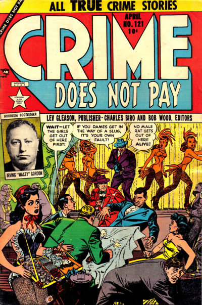 Cover for Crime Does Not Pay (Lev Gleason, 1942 series) #121