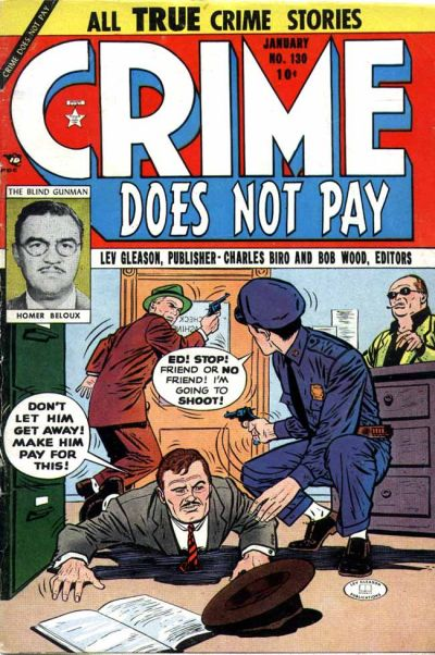Cover for Crime Does Not Pay (Lev Gleason, 1942 series) #130