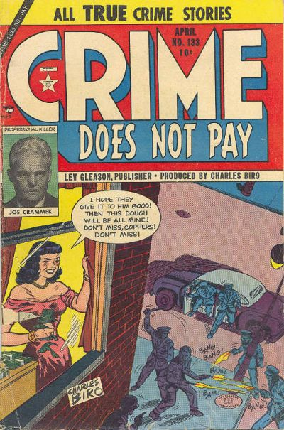 Cover for Crime Does Not Pay (Lev Gleason, 1942 series) #133