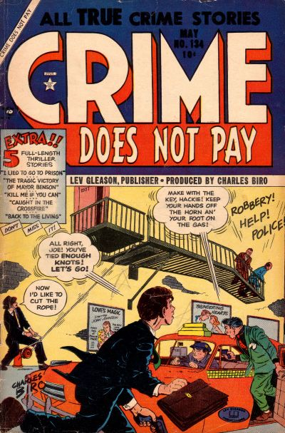 Cover for Crime Does Not Pay (Lev Gleason, 1942 series) #134