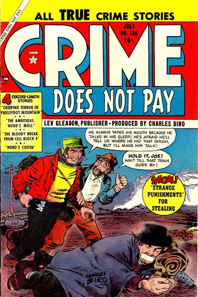 Cover for Crime Does Not Pay (Lev Gleason, 1942 series) #136