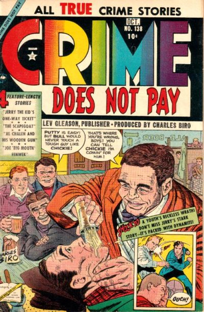 Cover for Crime Does Not Pay (Lev Gleason, 1942 series) #138