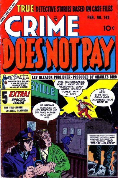Cover for Crime Does Not Pay (Lev Gleason, 1942 series) #142