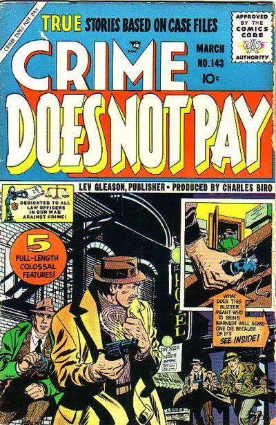 Cover for Crime Does Not Pay (Lev Gleason, 1942 series) #143