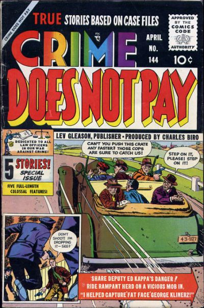 Cover for Crime Does Not Pay (Lev Gleason, 1942 series) #144