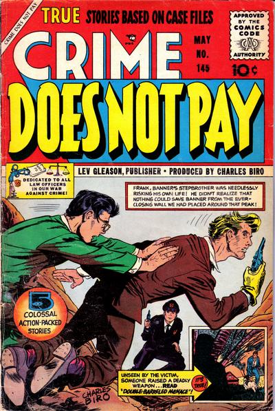 Cover for Crime Does Not Pay (Lev Gleason, 1942 series) #145