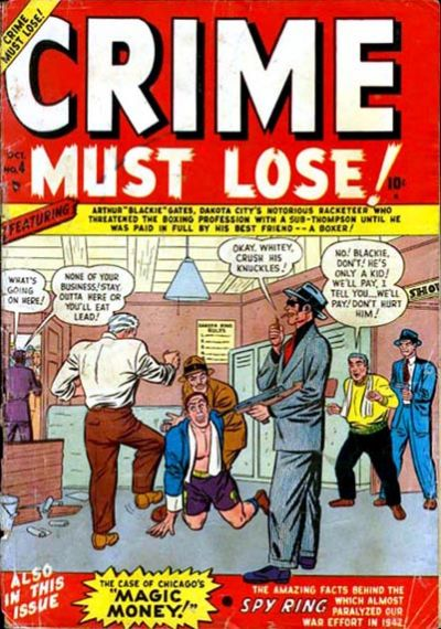 Cover for Crime Must Lose (Marvel, 1950 series) #4