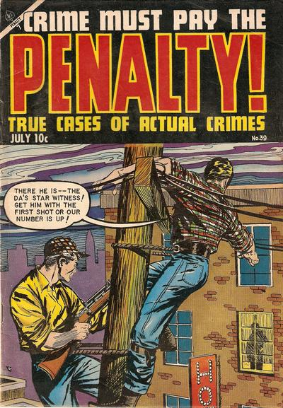 Cover for Crime Must Pay the Penalty (Ace Magazines, 1948 series) #39